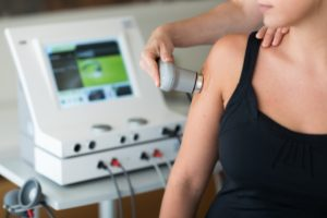 Physiotherapie Ultraschall bei Kalkschulter Impigement